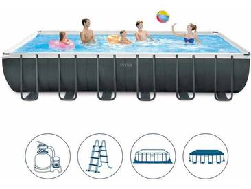 piscine intex 26364 ex 26362 hors-sol rectangulaire Ultra Frame 732x366x132