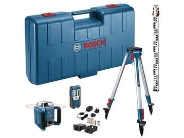 Coffret Laser rotatif de portée 400m à mise à niveau automatique horizontale GRL 400 H mire et trepied inclus BOSCH 06159940JY
