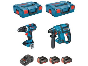 BOSCH Kit GSR 18V-60C + GBH 18V-EC (3 x 4,0Ah + GAL1880CV + 2 x L-Boxx 136)