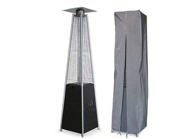 Parasol chauffant PYRAMIDE 14 KW INTEC Allumage électronique - Housse de protection Chauffage extérieur et éclairage de terrasse