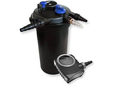 Kit de Filtration de Bassin à pression 30000l Stérilisateur UVC 18W 70W Pompe éco
