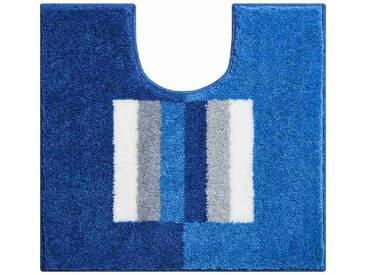 Tapis de salle de bain CAPRICIO bleu contour wc 55 x 60 cm / Couleur: Bleu / Référence: b4109-007001133