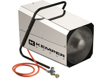 Générateur d'air chaud à gaz réglable de 22 à 42 kW/h en acier inoxydable.Dispositif d'allumage automatique.