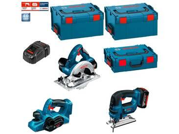 BOSCH Kit PSL3WM2A (GST 18 V-LI + GKS 18 V-LI + GHO 18 V-LI + 2 x 4,0 Ah + GAL1880CV + L-Boxx 136 + 2 x L-Boxx 238)