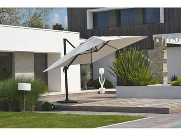 Parasol deporte SEVILLA 4x3m en aluminium gris anthracite et toile polyester - GRIS