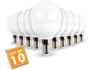 Lot de 10 ampoules E14 Mini Globe 5.5W 470 lumens Eq 40W | Blanc neutre 4000K