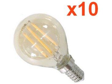 Ampoule E14 LED Filament Dimmable 4W G45 Classique (Pack de 10) - couleur eclairage : Blanc Chaud 2300K - 3500K