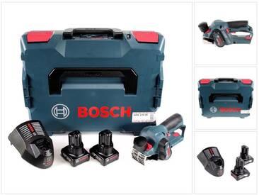 Bosch GHO 12V-20 Rabots sans fil Professional + Coffret L-Boxx + 2x Batteries GBA 12 V 6,0 Ah + Chargeur GAL 1230 CV