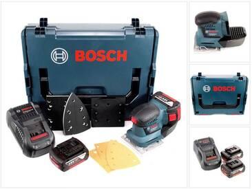 Bosch Professional GSS 18 V-10 Ponceuse vibrante sans fil avec boîtier L-Boxx + 2 x GBA 5,0 Ah Batteries + GAL 1880 Chargeur rapide