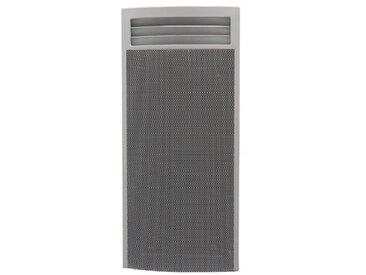 Panneau rayonnant électrique 1500W blanc vertical H1057mmX440X123mm thermostat elec 6 ordres AZUREO TRESCO 17075