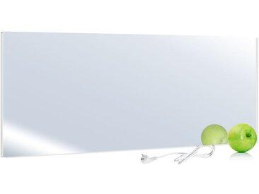 Viesta H700-SP Chauffage infrarouge 700 watts, panneau chauffant en miroir avec la plus grande efficacité grâce à la technologie des cristaux de carbone - chauffage plat en verre de sécurité et protection contre la surchauffe