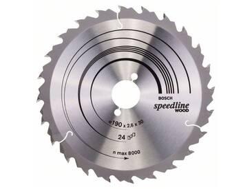 Bosch Lame de scie circulaire Speedline Wood 190 x 30 x 2,6 mm, 24