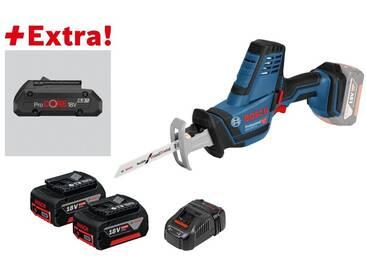 Bosch Scie sabre sans-fil GSA 18V-LI C + 2 + 5,0 Ah + ProCORE18V 4.0Ah dans L-BOXX - 0615990K7Y