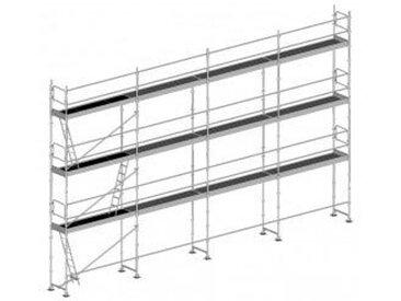 Echafaudage fixe de 104m²: Structure seule