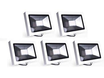 5×Auralum 30W Projecteur à LED Ultraléger Spot LED IP65 pour Éclairage Extérieur et Intérieur Projecteur de Haute Luminosité 2250LM SMD 3020 Blanc Froid 6000K