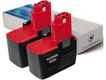 Lot de 2 batteries type 2607335246 pour Bosch 3000mAh 14.4V
