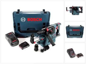 Bosch GBH 18 V-26 F Perforateur sans fil Professional SDS-Plus avec Boîtier de transport L-Boxx + Collecteur de poussière sans fil GDE 18 V-16 + 1x Batterie GBA 2 Ah + Chargeur GAL 1880 CV