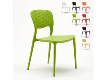 Chaise cuisine bar café polypropylene emplilable interiors exteriors GARDEN GIULIETTA | Vert