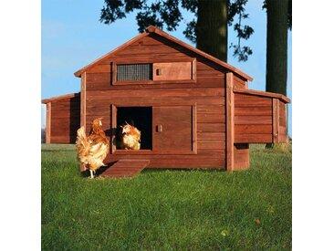 Poulailler en bois pour jardin extérieure 6 poules cage canard équipé 2 nichoirs 188 x 87 x 113 cm Modèle 129 Ferme de terrain