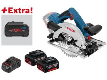 Bosch Scie circulaire sans-fil GKS 18V-57 G + 2 batteries 5,0 Ah + ProCORE18V 8.0Ah dans L-BOXX - 0615990K7X