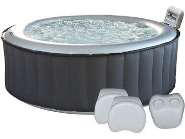 Pack Spa gonflable rond SILVER CLOUD - 6 places + appuie-tête + 1 porte-gobelets