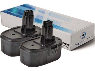 Lot de 2 batteries pour Black et Decker FS18 ponceuse 3000mAh 18V
