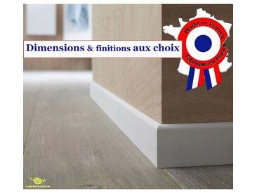 Plinthe en médium prépeinte blanche de très grande qualité – fabrication FRANCAISE – différentes dimensions et finitions   10 cm - finition carré - 16 ml