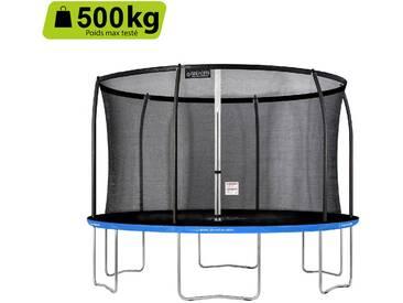 GREADEN Trampoline extérieur rond Freestyle bleu 360 fitness Jardin Ø 366cm - Normes EU, Design Exclusif, Ultra sécurisé