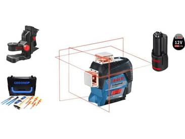 Bosch Laser 3 plans GLL 3-80 C + coffret 26 outils GEDORE BOSCH + BM 1 360° en L-BOXX + 06159940KN