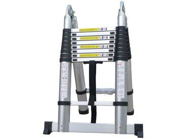 Escabeau télescopique professionnel 5M00 multifonctionnel - Norme EN-131-6 + gants offerts - Carrera