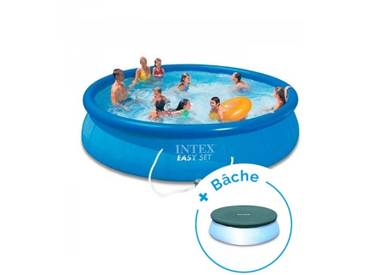 Pack Piscine autoportante Intex Easy Set 4,57 x 0,84 m + Bâche