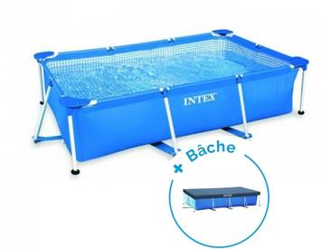 Pack Piscine tubulaire Intex MetalFrame Junior 3 x 2 x 0.75 m + Bâche