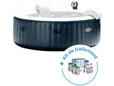 Pack Spa gonflable Intex Pure Spa Plus Bulles 4 personnes + Kit de traitement au brome HTH