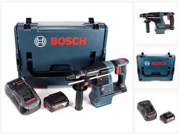 Bosch GBH 18 V-26 Perforateur sans fil Professional SDS-Plus avec Boîtier de transport L-Boxx + 1x Batterie GBA 5 Ah + Chargeur GAL 1880 CV