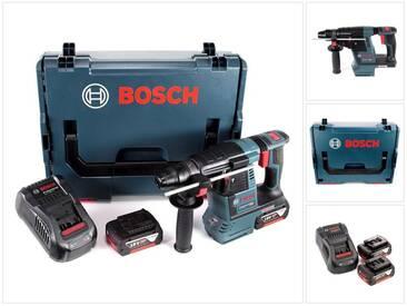 Bosch GBH 18 V-26 Perforateur sans fil Professional SDS-Plus avec Boîtier de transport L-Boxx + 2x Batteries GBA 5 Ah + Chargeur GAL 1880 CV