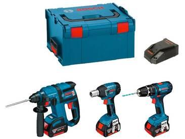BOSCH Kit GBH 18 V-EC + GDS 18 V-LI + GSB 18-2-LI Plus (3 x 4,0 Ah + GAL1880CV + L-Boxx 238)