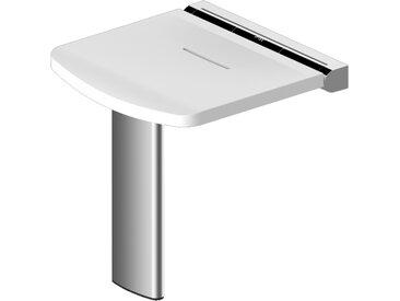 Siège de douche Onyx - AKW - Blanc et charnières noires - 463x448x470mm