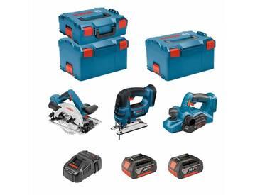 BOSCH Kit PSL3P2WC (GST 18V-LI B + GKS 18V-57G + GHO 18V-LI + 2 x 5,0Ah + GAL1880CV + 2 x L-Boxx 238 + L-Boxx 136)