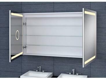 Armoire de toilette aluminium - Modèle JAYA 120 - 70 cm x 120 cm (HxL)