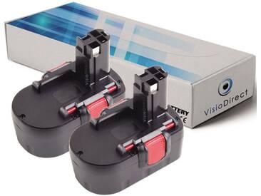 Lot de 2 batteries type 2607335685 pour Bosch 3000mAh 14.4V