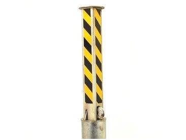 Poteau télescopique TP-80-BY NOIR/JAUNE (s'entrouvrant) avec cadenas