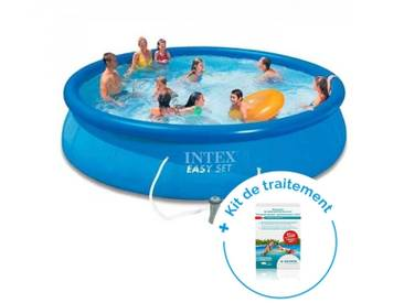 Pack Piscine autoportante Intex Easy Set 4,57 x 0,84 m + Traitement pour piscines < 10 m³