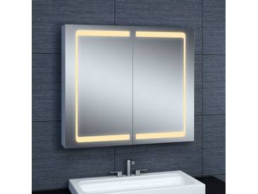 Armoire de toilette aluminium - Modèle JAYA 80 - 70 cm x 80 cm (HxL)