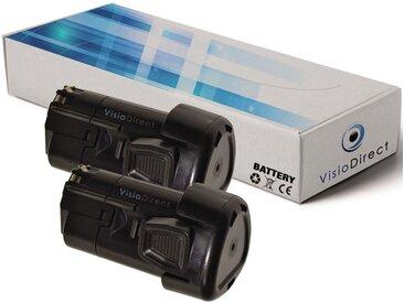 Lot de 2 batteries pour Black et Decker GKC108 scie élagueuse 1500mAh 10.8V