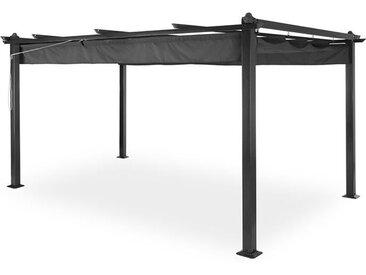 Blumfeldt Pantheon Pergola auvent 3x4m aluminium Parasol Polyester - gris