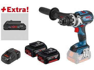 Bosch Perceuse-visseuse sans-fil GSR 18V-85 C + 2 batteries 5,0 Ah + ProCORE18V 4.0Ah dans L-BOXX - 0615990K7P