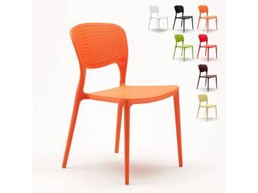 Chaise cuisine bar café polypropylene emplilable interiors exteriors GARDEN GIULIETTA | Orange