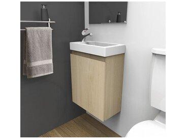 Meuble lave-mains L41 x H53 Chêne LISA