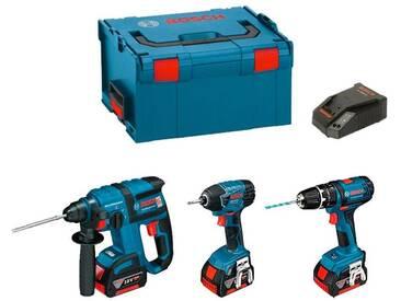 BOSCH Kit GBH 18 V-EC + GDR 18 V-LI + GSB 18-2-LI Plus (3 x 4,0 Ah + GAL1880CV + L-Boxx 238)