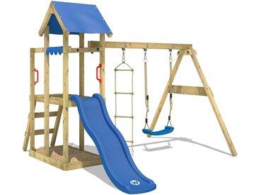 Aire de jeux WICKEY TinyPlace avec toboggan blue, balançoire et bac à sable